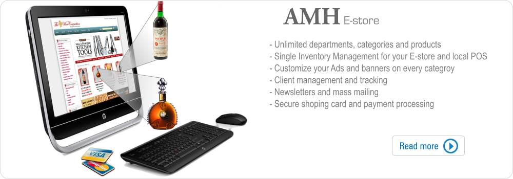 AMH E-commerce solution - Integrated Cloud POS and E-commerce